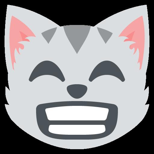 Grinning Cat Face With Smiling Eyes Emoji