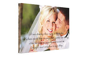 Personalised Song Lyrics On Canvas Canvas With Song Lyrics Picture