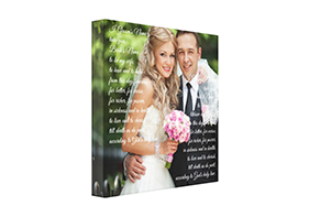 Personalized Wedding Picture Canvas Prints With Song Lyrics