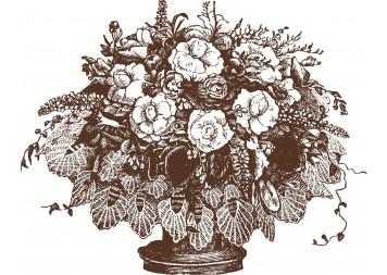 Beautiful Flowerpot Wall Decals