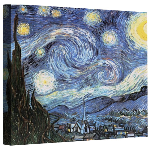 Print The Starry Night By Vincent Van Gogh On Canvas