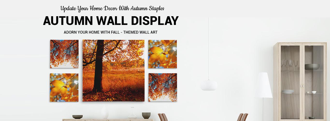 Autumn Wall Display Canvasprints