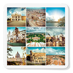 Collage Photo Coasters