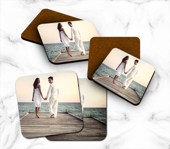 Custom Cork Photo Coasters