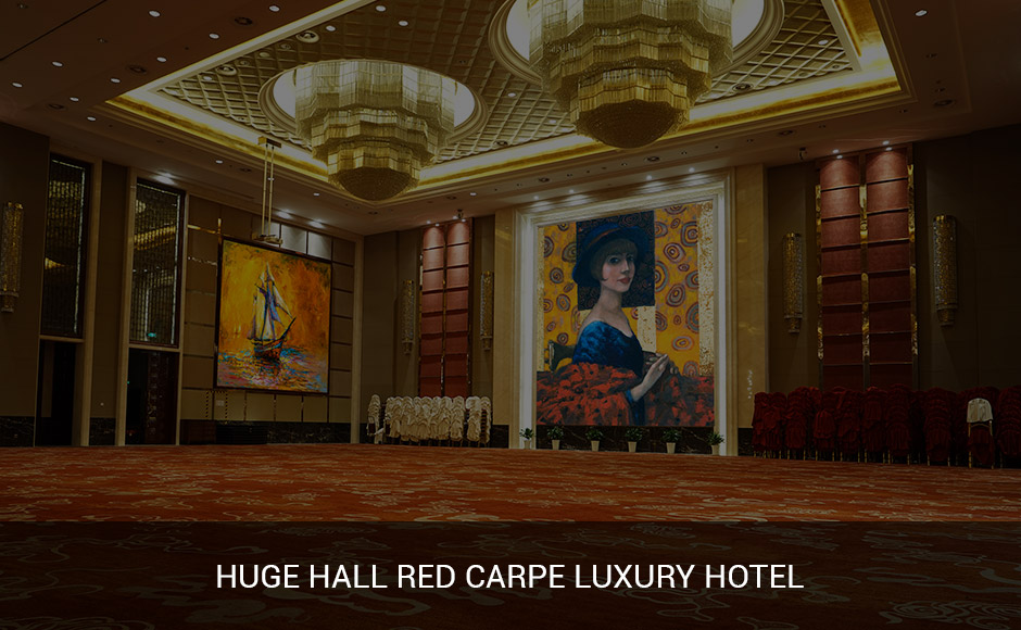 Huge Hall red carpe luxury Hotel