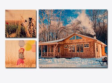Four Piece Wood prints