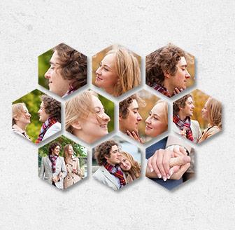 Horizontal Hexagonal Prints Bundle of 10