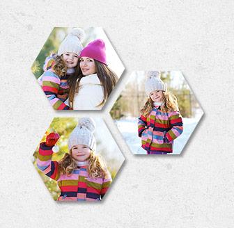 Horizontal Hexagonal Prints Bundle of 3