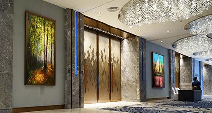 Modern Luxury lobby interior.- Modern lobby interior Wall Art