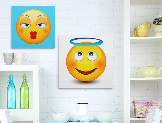Emoji Wall Art emoji canvas prints - emoji wall art printscanvaschamp