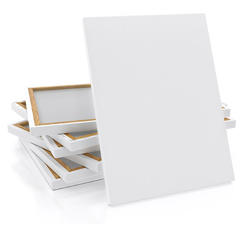 Blank Pre-Stretched Canvas - Artist Supplies