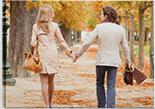 Lovable Couple Large Canvas Print