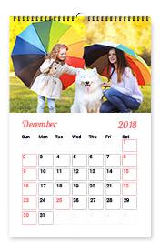 """Wall Calendar 11""""x8"""""""