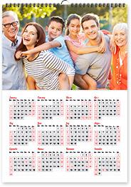 """Poster Calendar 17""""x12"""""""