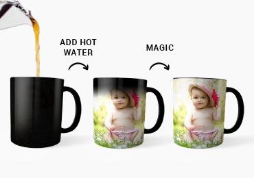 Magic Mug Personalized Mugs 11oz Color Changing Coffee In Black