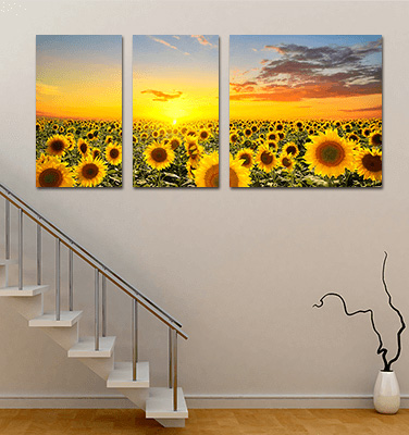 Triptych Canvas Staircase