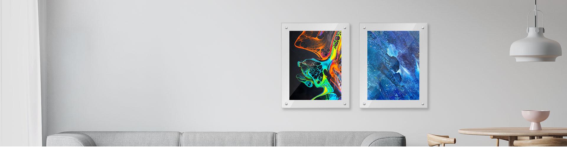 Custom Clear Frame Acrylic Wall Art