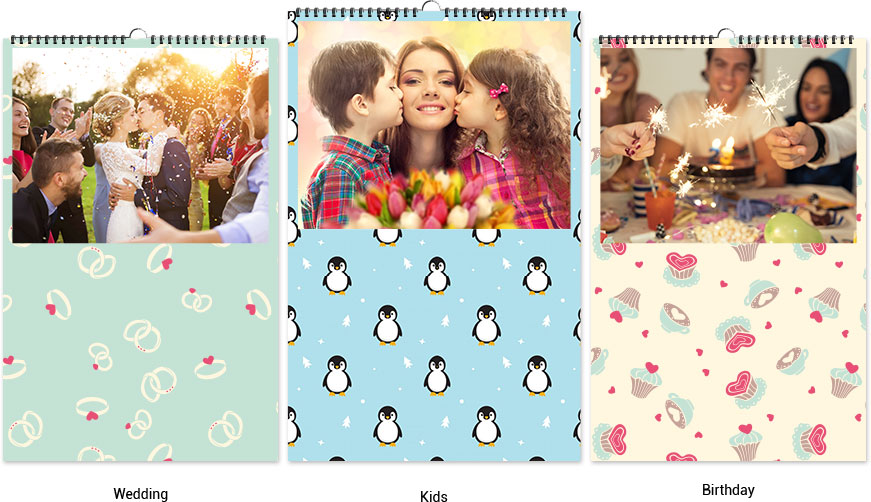 Calendar background designs, patterns and colors