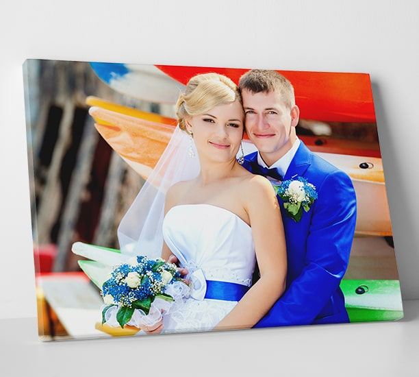 Bride and Groom Dancing Personalized Photo Art Print Wedding Marriage