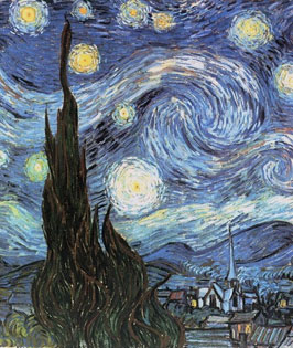 Starry Night By Vincent Van Gogh Stretched Canvas Print